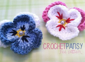 Pansy-Crochet-Flower