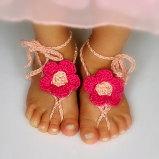 d7b23960f Barefoot Sandals by Lorin Jean. This free ravelry download includes baby ...