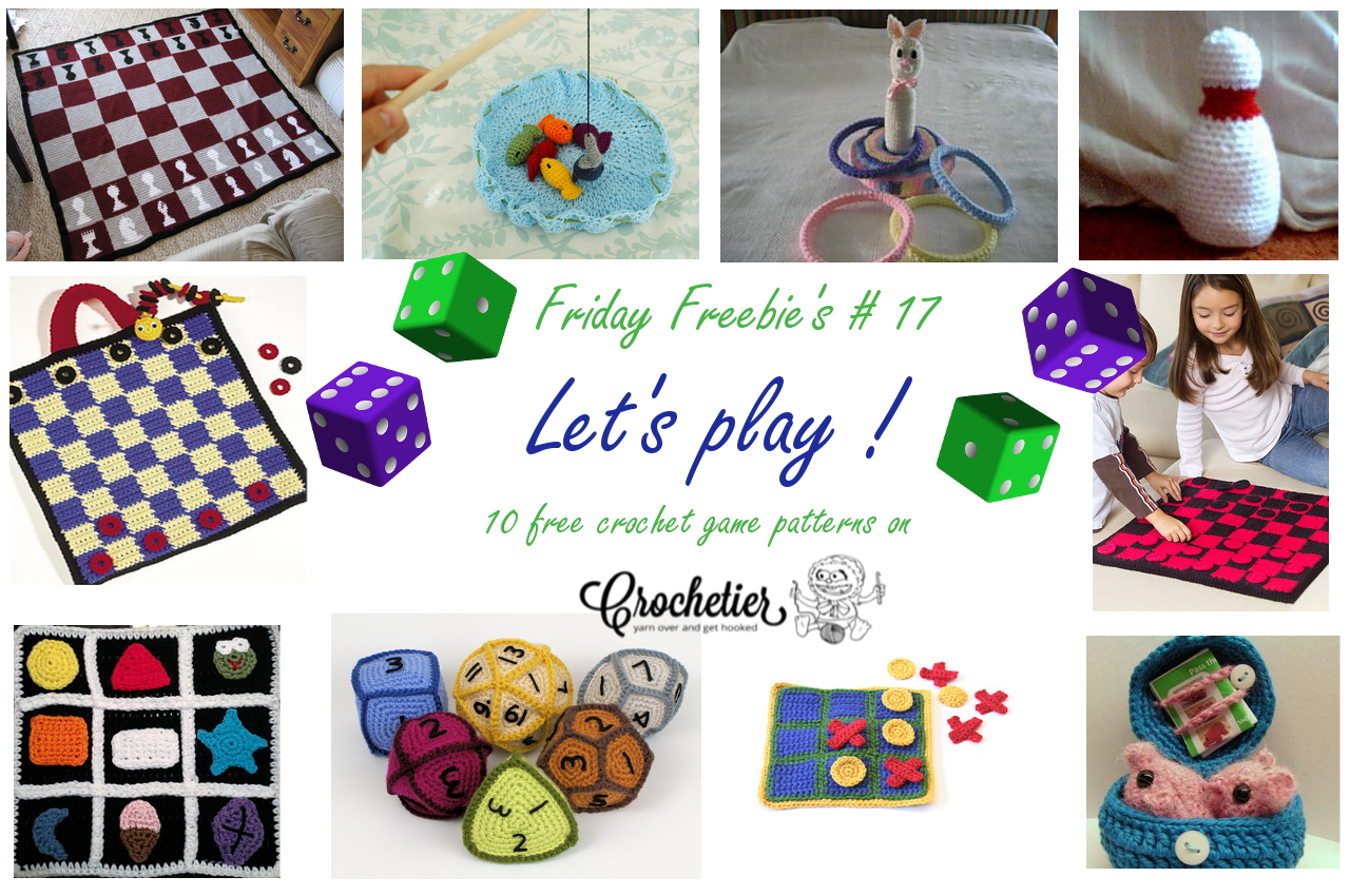 Free Crochet Patterns Games : Friday Freebie s # 17 Let s Play ! Crochetier.com