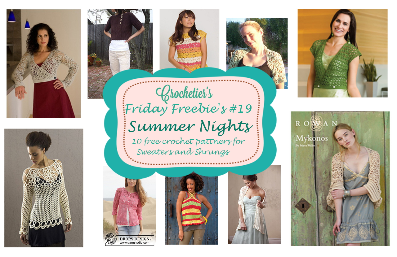Friday Freebie\'s #19 Summer Night Sweaters & Shrugs | Crochetier.com