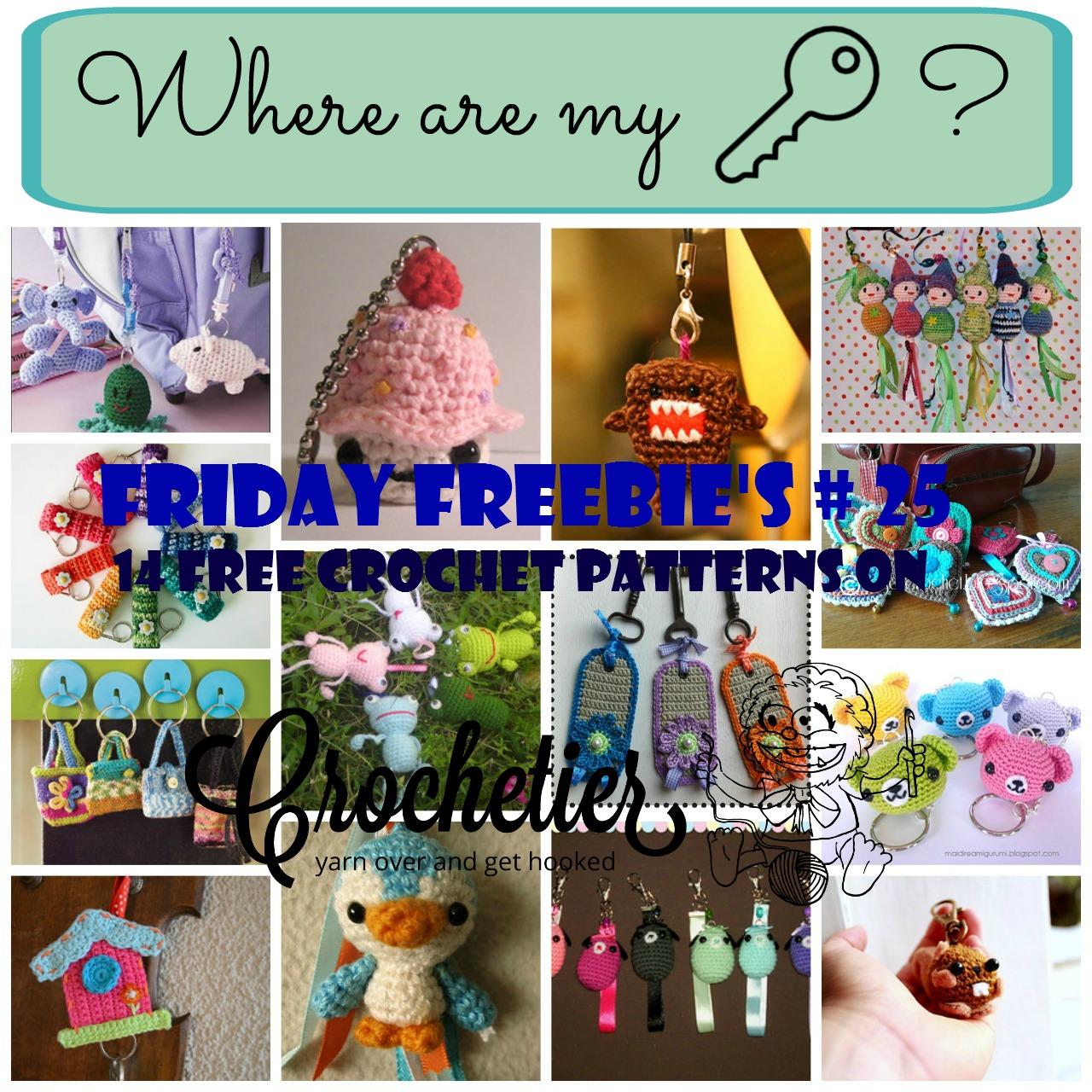 Friday Freebie s # 25 Keychains Crochetier.com