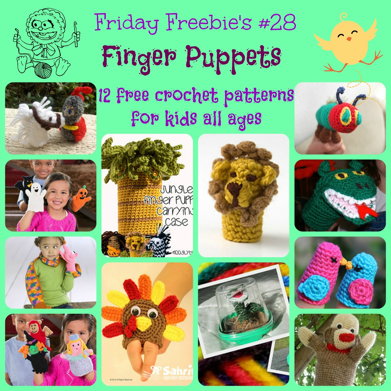 Friday Freebies 28 Finger Puppets Crochetier