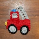 Fire truck english pattern